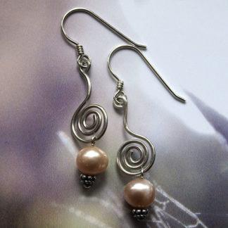 Perlen-Spiral-Ohrringe